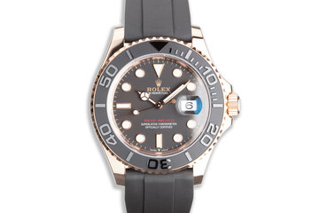 2020 Everose Rolex Yacht Master 126655 with Oysterflex Box & Card photo