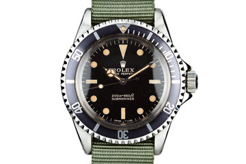 1964 Rolex Submariner 5513 with Meters first Gilt Dial photo