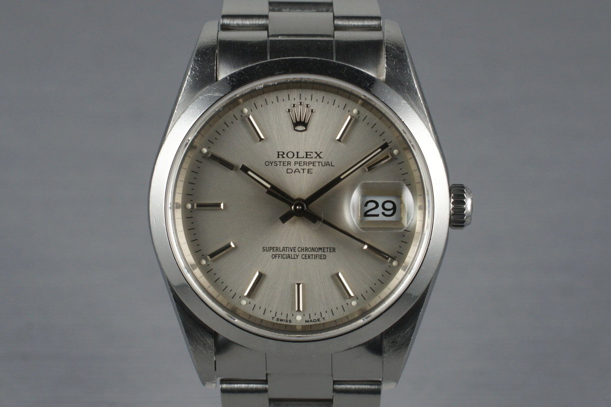 1997 Rolex Date 15200 with Box & Papers photo, #0