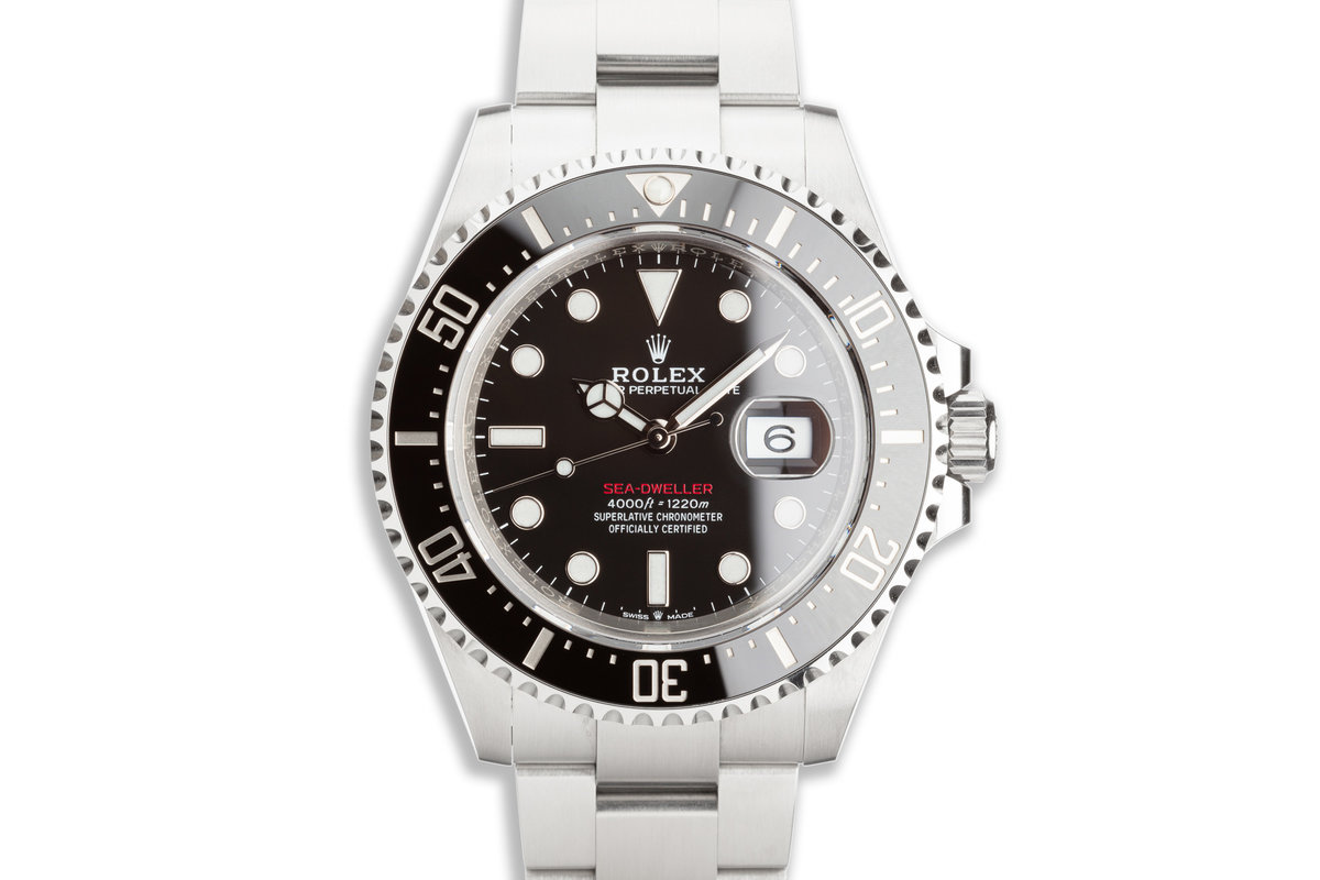 2019 Rolex Red Sea-Dweller 126600 with Box & Card photo, #0
