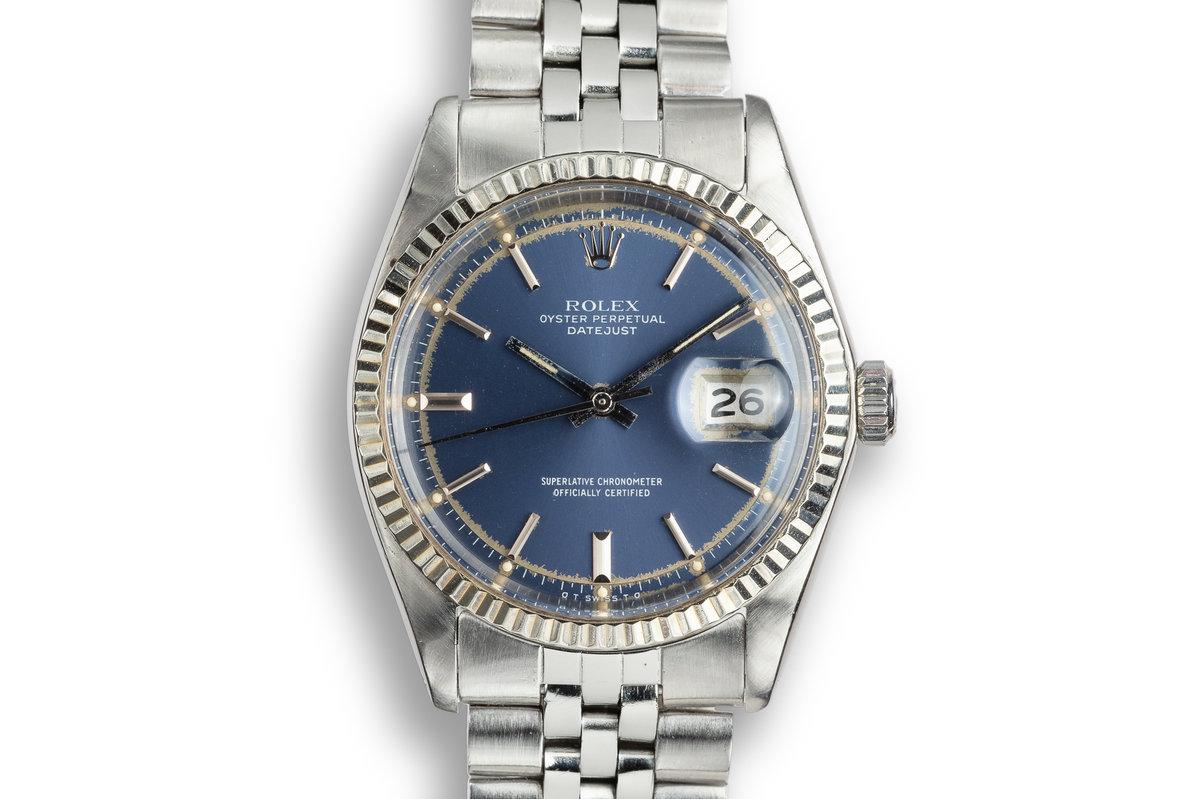 1973 Rolex DateJust 1601 Blue Sigma Dial photo, #0