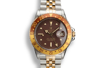 1972 Rolex Two-Tone GMT-Master 1675 with Brown Nipple Dial photo