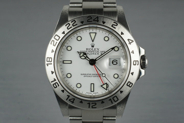 2003 Rolex Explorer II 16570T White Dial with Box and Papers photo