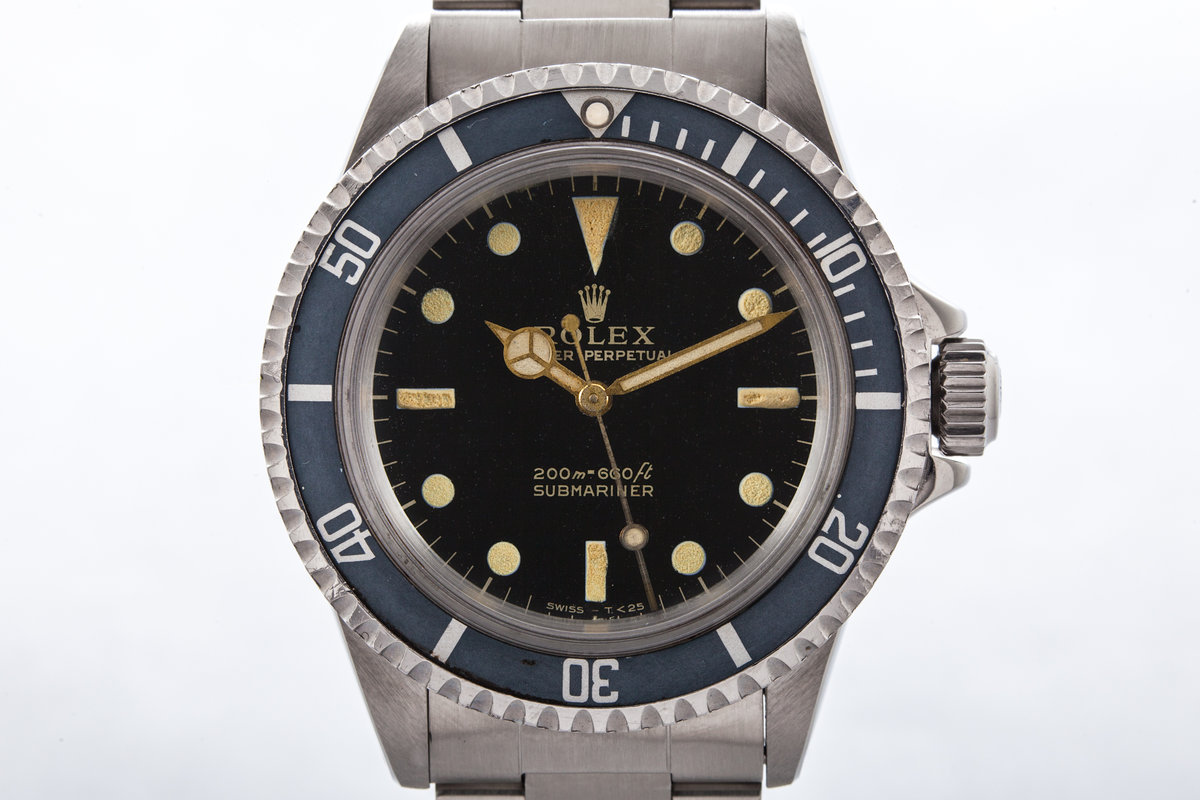 1964 Rolex Submariner 5513 Gilt Dial with Box and Papers photo, #0