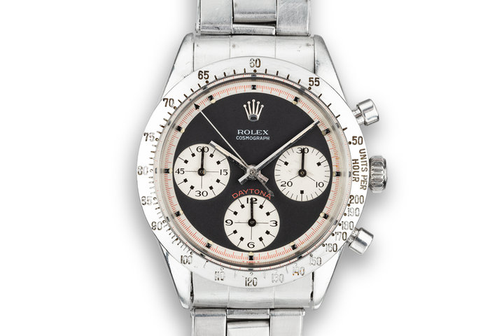 "1969 Rolex ""Paul Newman"" Daytona 6239 with ""Barbara"" Aviation Documents and Photographs photo"