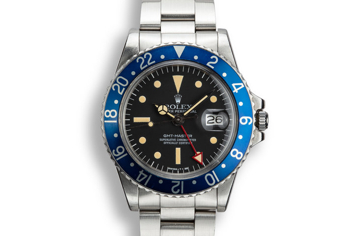 "1977 Rolex GMT-Master 1675 ""Blueberry"" with Radial Dial and Red GMT Hand photo"