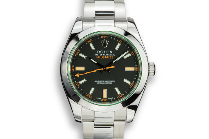 2013 Rolex Milgauss 116400V Black Dial with Box and Papers photo