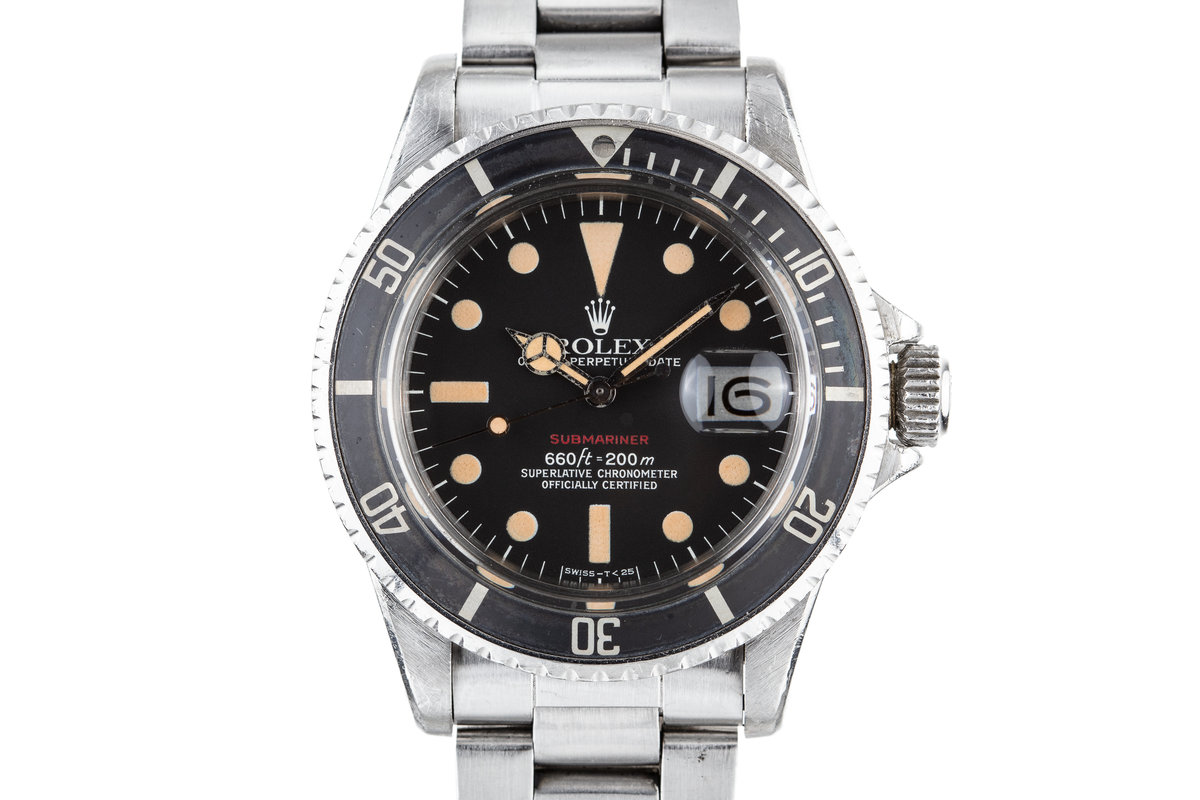 1972 Rolex Red Submariner 1680 with Mark 6 Red Submariner Dial photo, #0