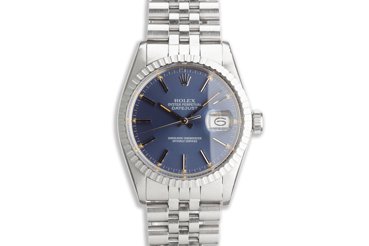 1984 Vintage Rolex DateJust 16030 with Blue Dial with Service Papers photo, #0