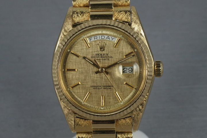 1970 Rolex Vintage President 1803 with Linen Dial and Morellis finish photo