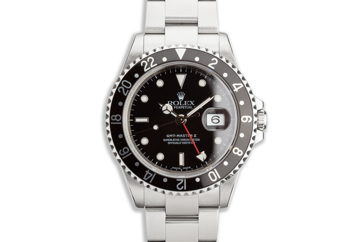 2000 Rolex GMT-Master II 16710 Black Bezel Box and Papers photo, #0