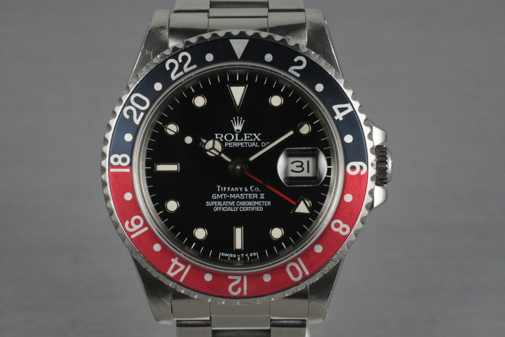 1990 Rolex GMT 16710 with Tiffany and Co. Dial photo
