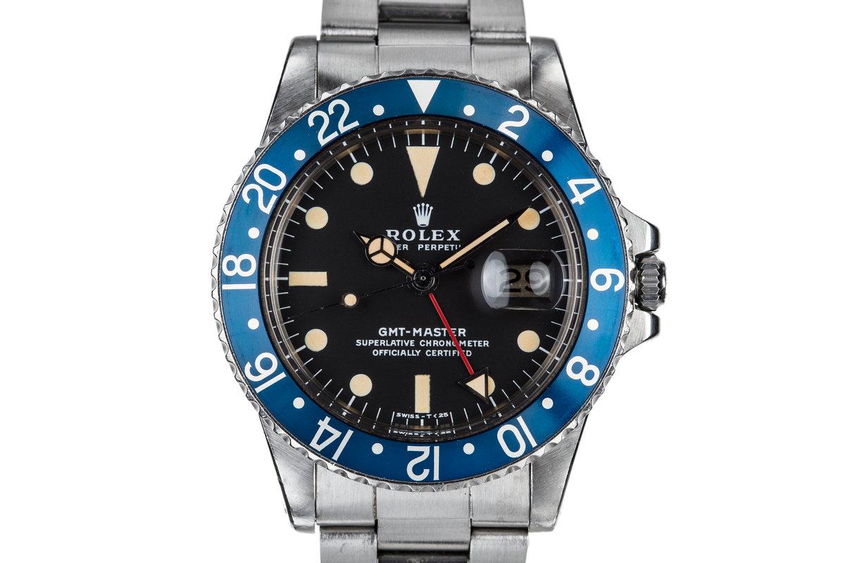 """1977 Rolex GMT-Master 1675 """"Blueberry"""" photo, #0"""