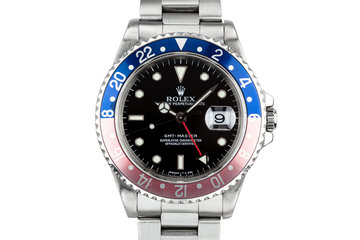 "1997 Rolex Gmt-Master 16700 ""Pepsi"" with Box and Papers photo"