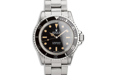 "1986 Vintage Rolex Submariner 5513 with Glossy ""Spider"" Dial photo"