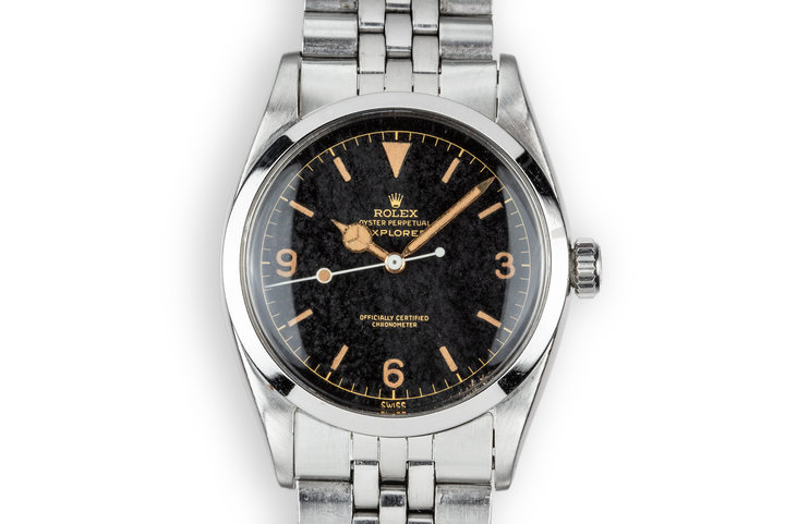 "1958 Rolex Explorer 6610 Gilt Dial with ""Night Sky"" Patina photo"
