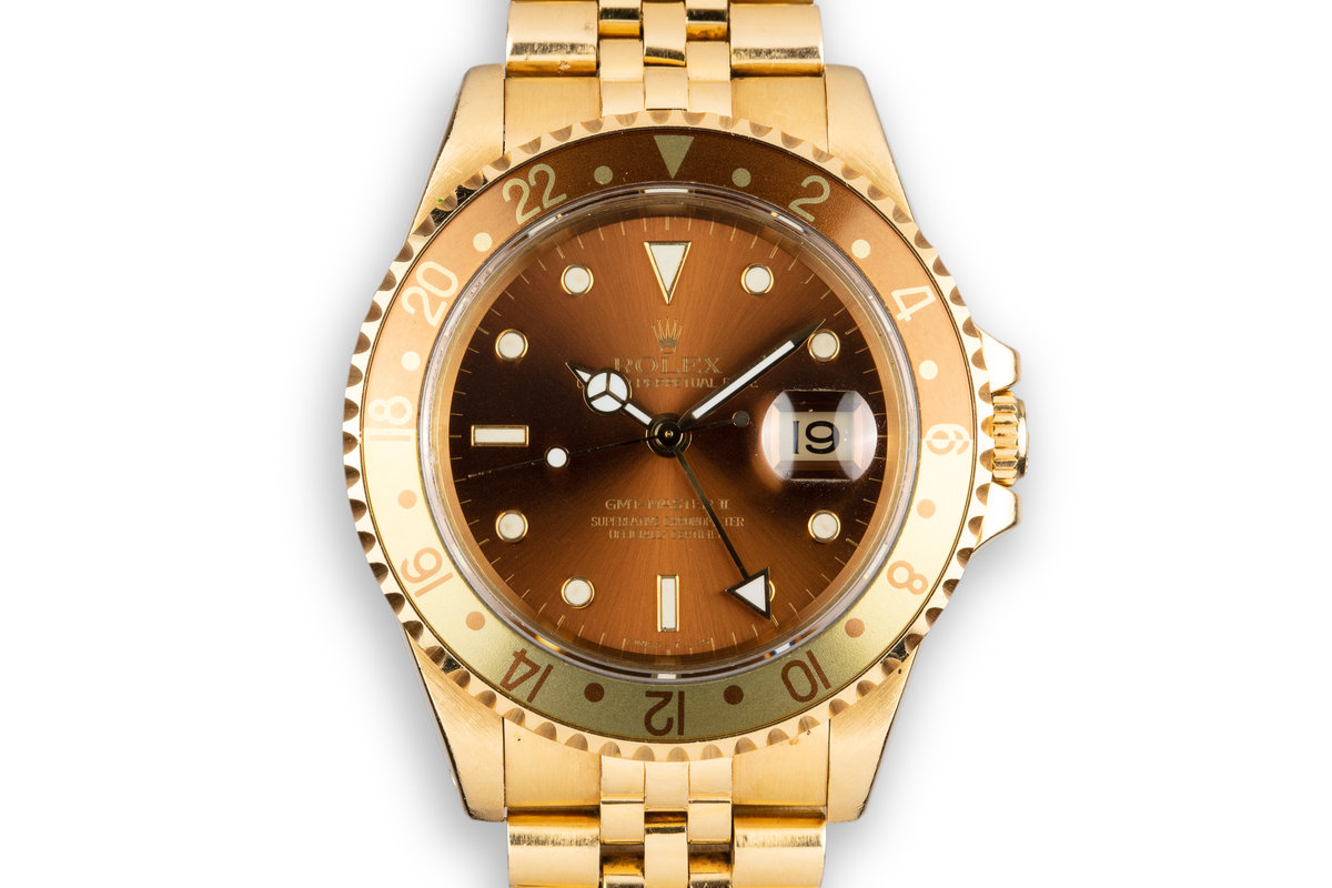"1993 Rolex 18K YG GMT-Master II 16718 with ""Root beer"" Dial photo, #0"