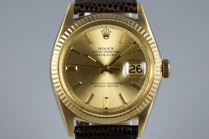 Vintage Rolex YG Datejust 1601 photo