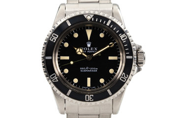1970 Rolex Submariner 5513 with Swiss Rivet Band photo