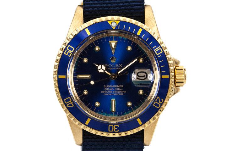 1969 YG Rolex Submariner 1680 Blue Dial photo