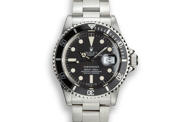 1978 Rolex Submariner 1680 with Box, Papers, and Service Papers photo