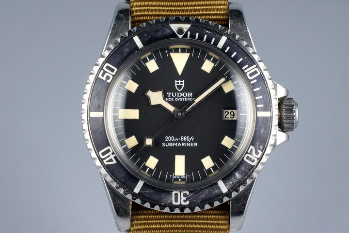 1977 Tudor Submariner 94110 Black Snowflake photo