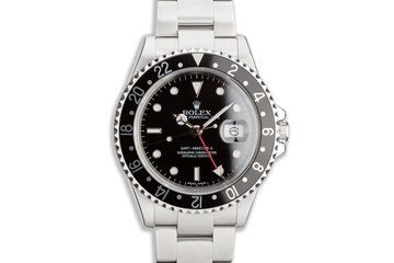 2006 Rolex GMT-Master II 16710 T Black Bezel with Box & Papers photo