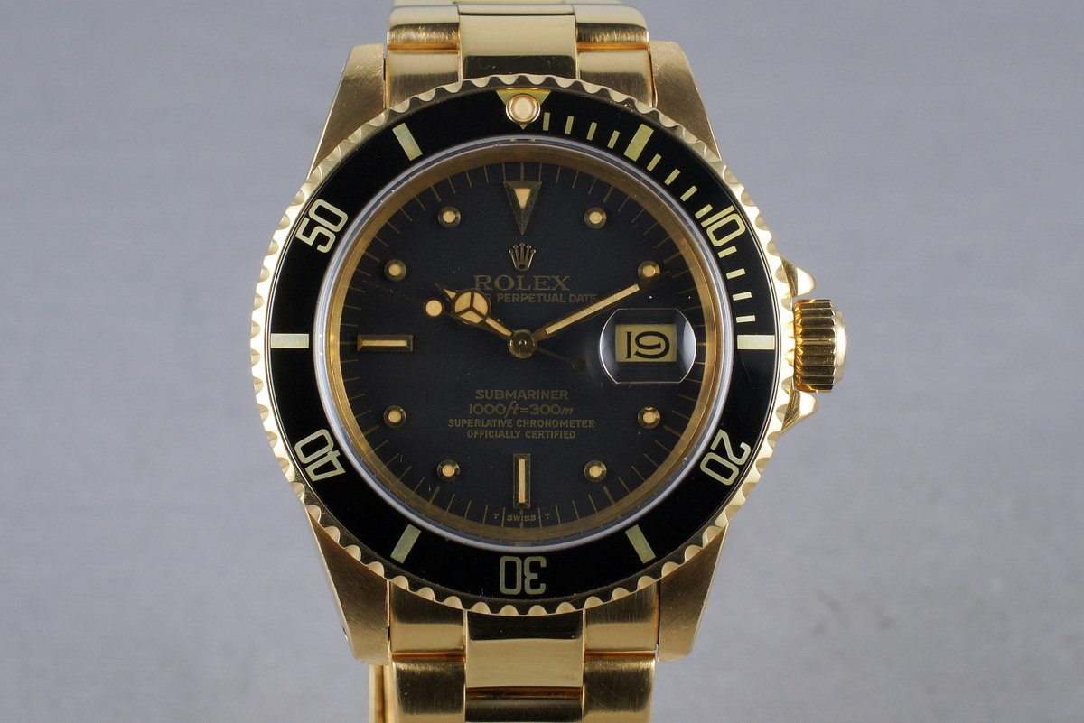 1980 Rolex 18K Submariner 16808 with RSC Papers photo, #0