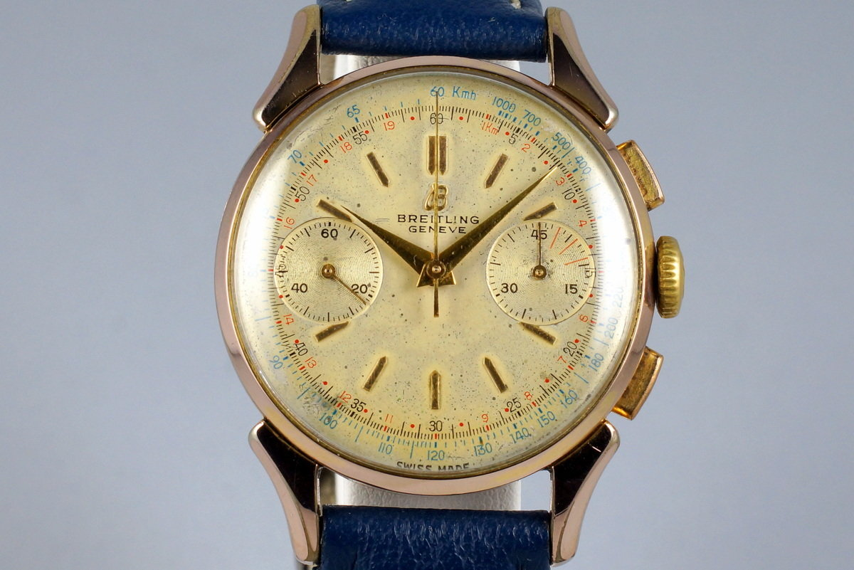 1950's Gold Shell Breitling Chronograph 1193 photo, #0