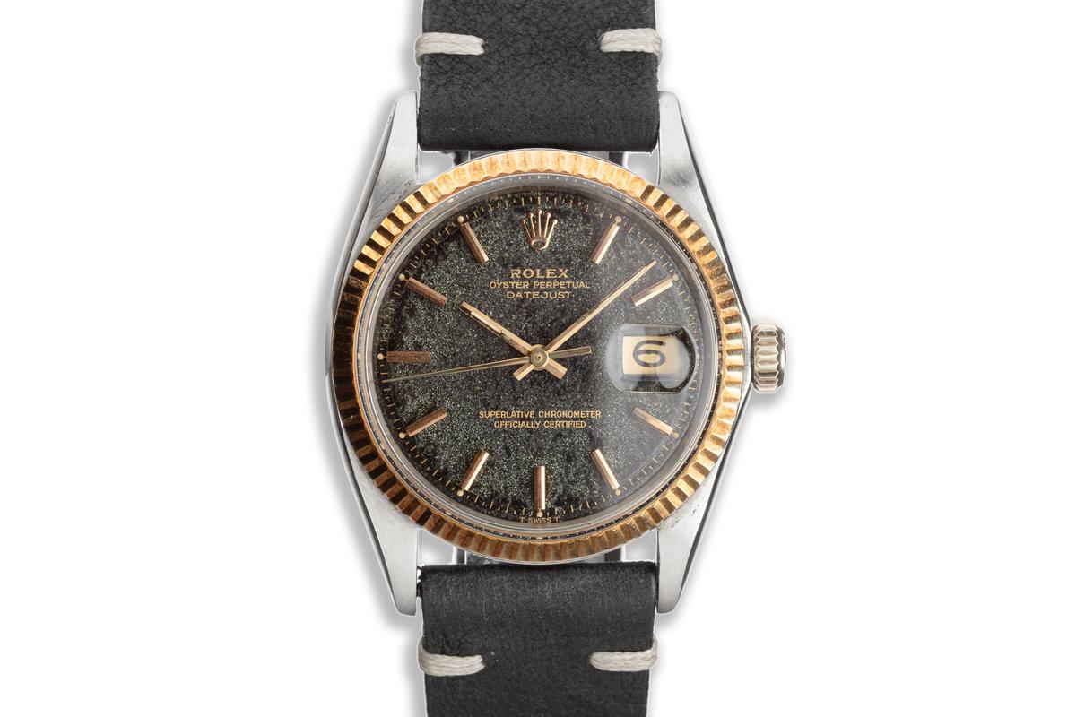 1968 Vintage Rolex 18k & Steel DateJust 1601 Tropical Gilt Dial photo, #0