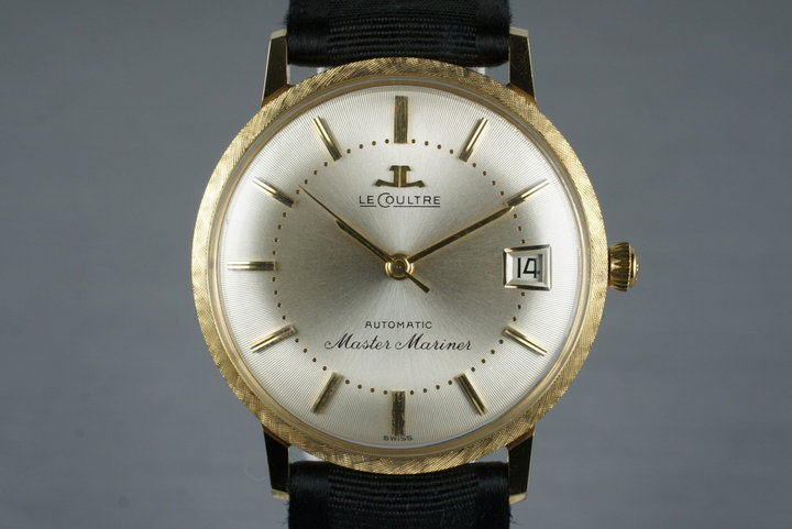 Vintage 18K YG LeCoultre Master Mariner photo