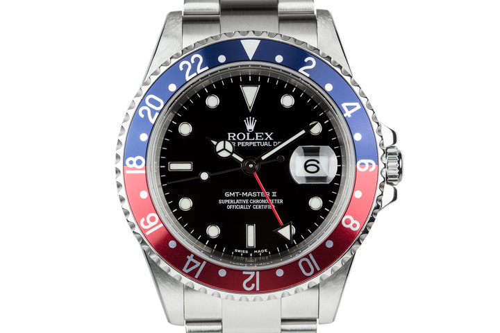 """2005 Rolex GMT-Master II 16710 with """"Pepsi"""" Bezel insert with Box and Papers photo"""