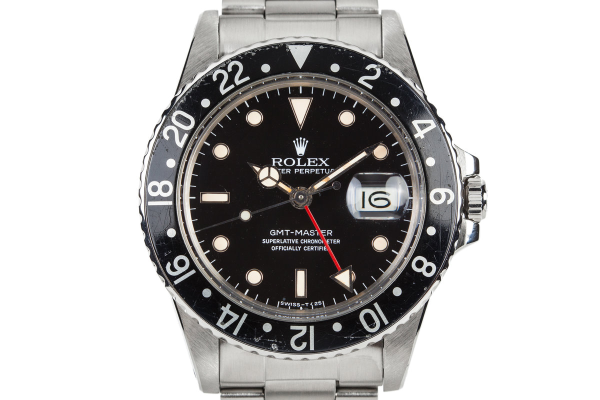 1984 Rolex GMT-Master 16750 Black Bezel with Box and Papers photo, #0