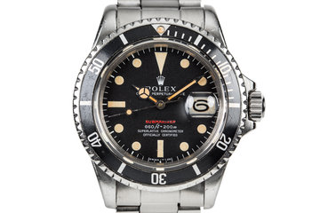 1971 Rolex Submariner 1680 with MK IV Red Dial photo