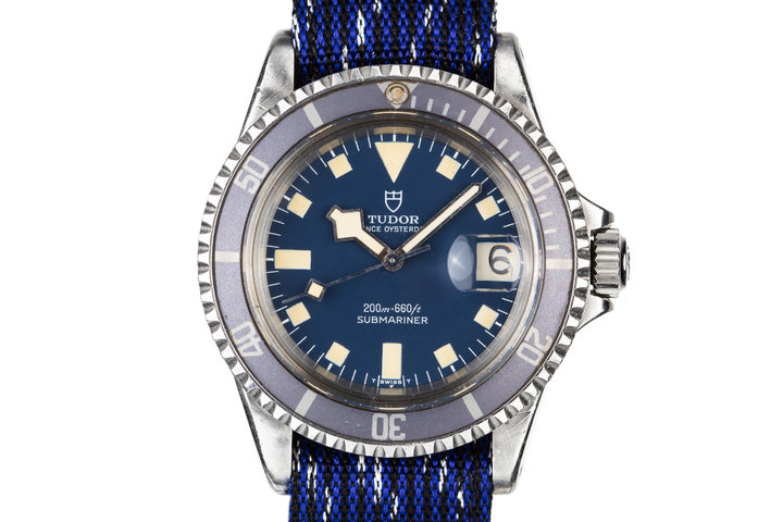 1975 Tudor Snowflake Submariner 9411/0 Blue Dial photo