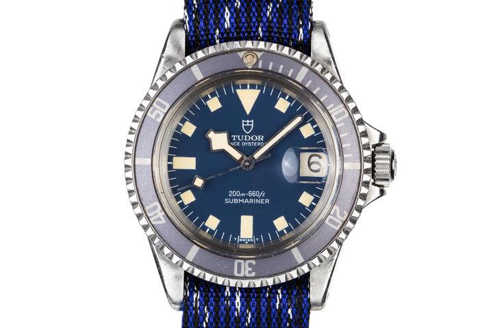 1975 Tudor Snowflake Submariner 9411/0 Blue Dial photo