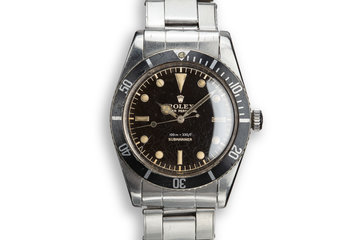 "1958 Rolex Submariner 5508 with ""Black Thorn"" Dial photo"