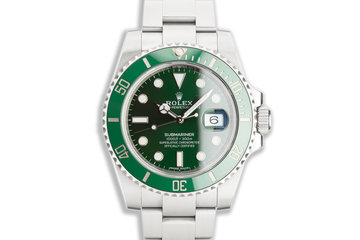"2017 Rolex Green Submariner 116610LV ""Hulk"" with Box & Card photo"