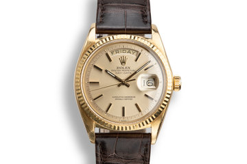 1972 Rolex 18K YG Day-Date 1803 Champagne Dial photo