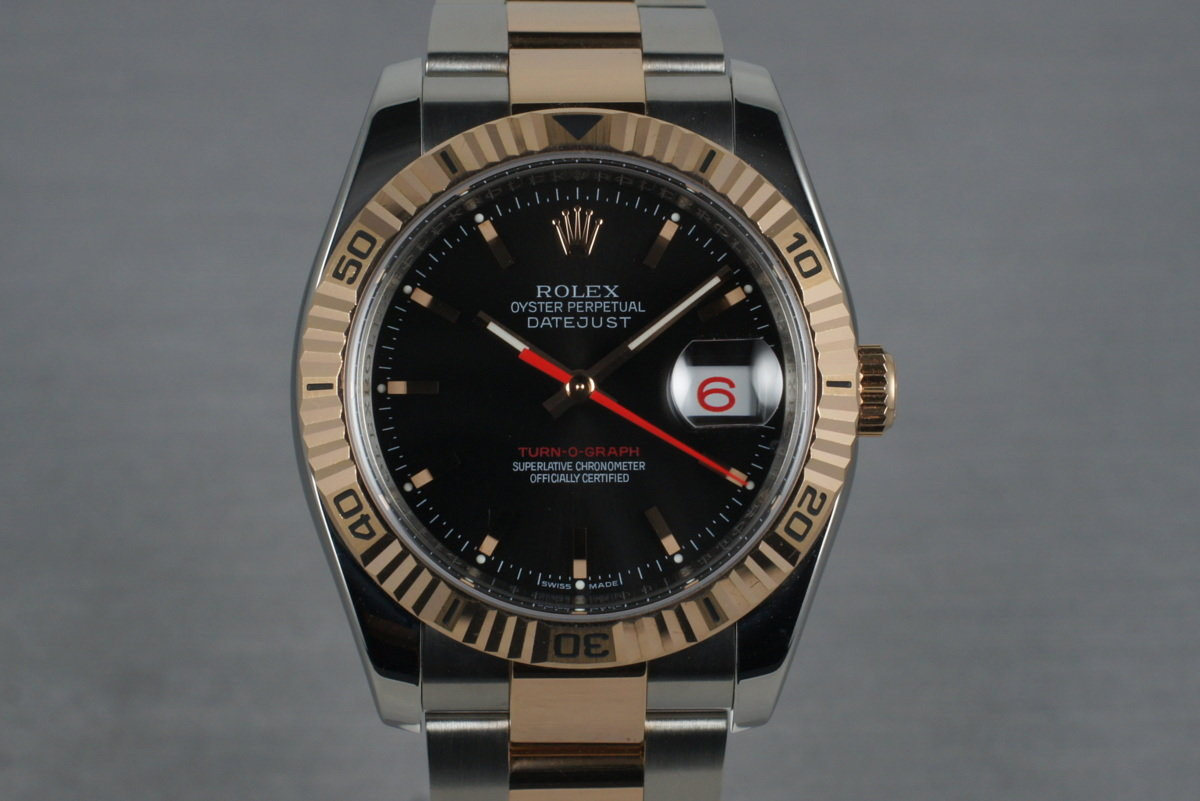 2005 Rolex Datejust Turnograph Rose Gold and Stainless Steel 116261 photo, #0