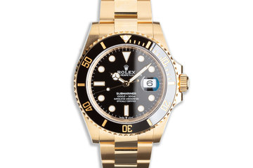 2021 41mm 18k YG Rolex Submariner 126618LN with Box & Card photo