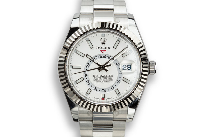Rolex Sky-Dweller 326934 Silver Dial with Box and Papers photo