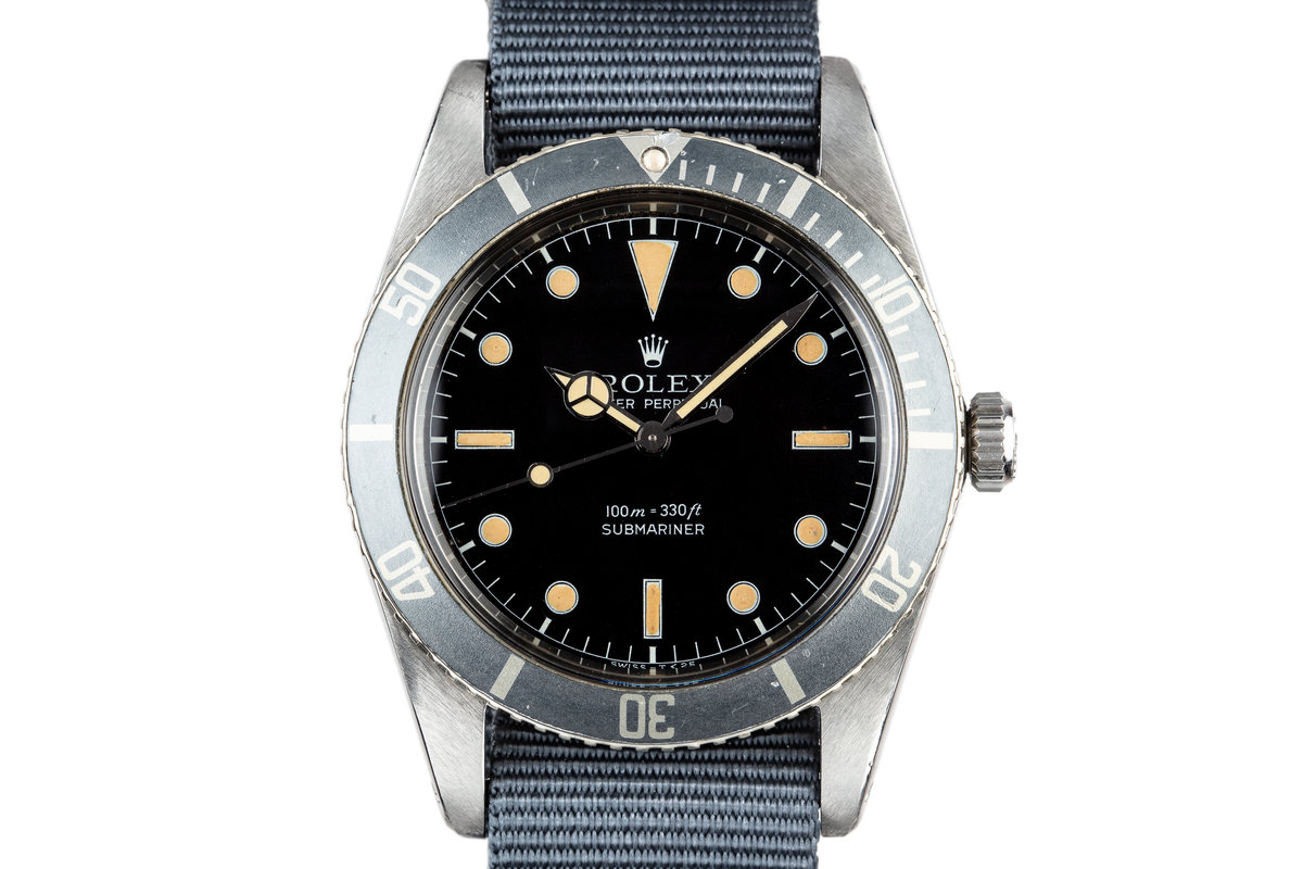 1959 Rolex Submariner 5508 Tritium Service Dial with Box and Papers photo, #0