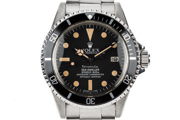 1981 Rolex Sea Dweller 1665 Mark IV Tiffany & Co. Dial photo