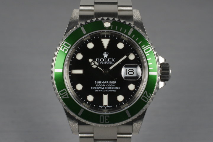 2004 Rolex Green Submariner 16610LV with Box photo