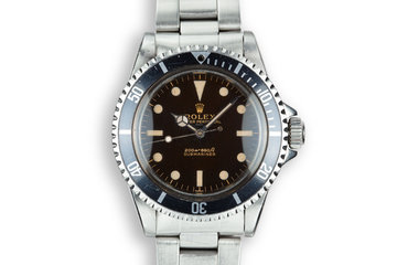1963 Rolex Submariner 5513 Pointed Crown Guard Case with Gilt Underline Dial with Royal Navy Dive History photo