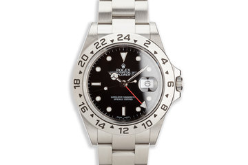 2006 Rolex Explorer II 16570 Black Dial with Service Papers photo