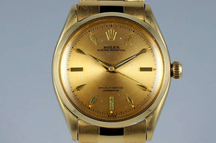 1957 Rolex YG Oyster Perpetual 6564 photo