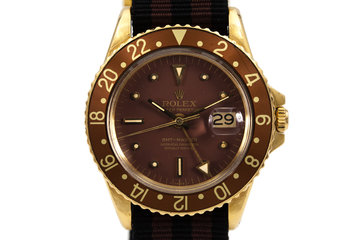 1970 Rolex 18K YG GMT 1675 Brown Dial photo