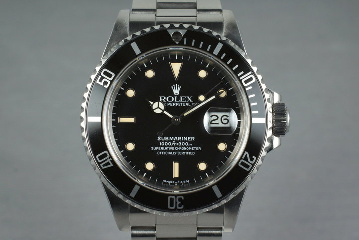 1987 Rolex Submariner 168000 with Box and Papers photo